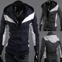 Assassin creed - double zipper open men's clothing line guard coat free shipping
