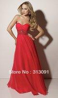 2013 Newest style Free-shipping Blue Chiffon Fashion Prom Dress W1110