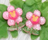 Wholesale  100pcs  Fashion  Flower  Resin Flatbacks  27x22mm  A106A