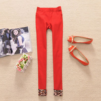 Rq36 2013 summer women's leopard print roll up hem casual pants slim skinny pants - 0.2 -Free Shipping