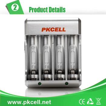 PKCELL Battery Charger for Rechargeable Batteries Charger for AA/AAA/NICD/NIMH Battery