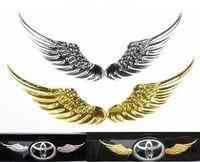 Free Shipping Bigger Angel Wings Car Sticker 3D Metal Car Logo/Badge Sticker car body sticker