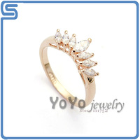Min order is 15 USD, 18k Gold Plated , Hot sale Italina gold texture platinum gem ring, free shippings ,Yo-918710736AB0200