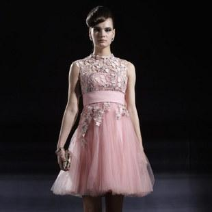 2013 new hot sale pink evening dress short design prom dresses party dresses(China (Mainland))