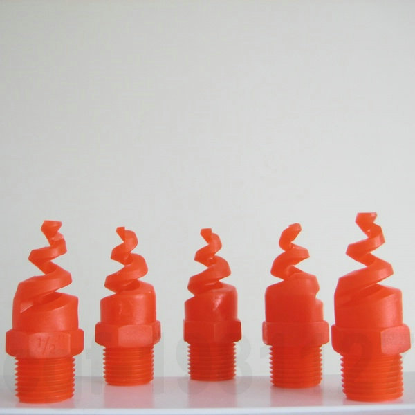 "5pcs Plastic PP Spiral Cone Spray Nozzle 1/2""BSPT ,Dust removal, Fire Fighting(China (Mainland))"