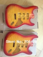 STB-02 2pcs/lot free shipping promotion strat guitar body with flame maple top sell in pair amazing price