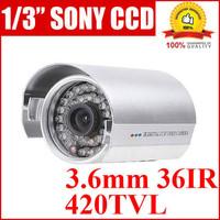 free shipping 1/3 Sony CCD 420TVLine Security Camera CCTV IR camera #8290