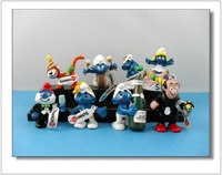 8 Pieces 6CM High  Smurfette Toys  Azrael Gargamel Action  Figures Birthday Party  WA0030