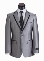 Free shipping 2013 silk suits men silver mens 2013 suit 1 button mens suits best quality classic 44-60#