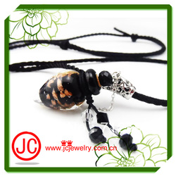 New Arrival Chinese girl&#39;s Murano Glass perfume bottle pendant necklaces,adjustable chains fit all people free shipping(China (Mainland))