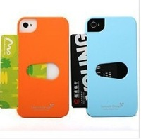 Korea Style,Vancode hard Case For iPhone 4G /4S,can insert a card,many Colors,Free Shipping!
