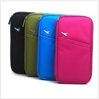 FREE SHIPPING NEW version multifunction nylon  card bag handy bag travel bag travelus folder passport holder