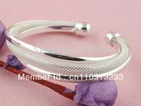 Free Shipping! Wholesale 5pcs 925 sterling silver handmade twist cuff bangle bracelet TZ014*5