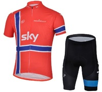 Best selling! 2013 new model Tour de France Pro Cycling tops + shorts bicycle / bike/riding /cycle wear SKY Red team