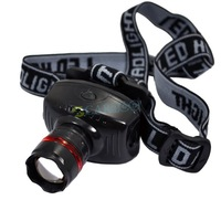 5pcs/lot Hot Selling Camping Night Outdoor LED High Power Zoom Headlamp Wholesale 1893