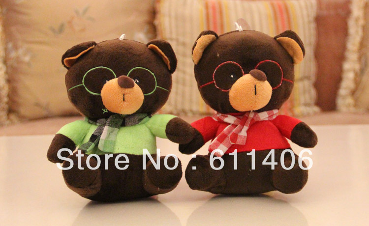 Special offer 18 cm(7 inch) stuffed talking cool teddy bear toys with sound recorder(12 seconds) for party favors,free shipping(China (Mainland))
