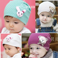 Spring 2013 bonnet baby hat baby hat cartoon animal dot male female child pocket hat