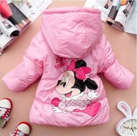 4pcs/lot children girls cute cartoon parkas winter outwear hooded coat free shipping ZZ0253