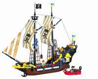 without original box No 307 Pirates Series Enlighten Building Block Set 3D Construction Brick Toys Educational toy for Children