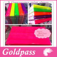 Nail Buffer Sponge Files Fluorescent Neon Color 2 Way Shine 20 pcs/set Free Shipping High Quality