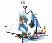 without original box No 305 Pirates Series Enlighten Building Block Set 3D Construction Brick Toys Educational Block toy