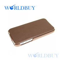 High Quality Luxury Genuine Flip Real Leather Back Case Cover For Apple Iphone 5 5G 5th Free Shipping UPS DHL FEDEX EMS HKPAM