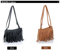 Free shipping Hot promotion 2013 women fashion superior quality   PU Leather Solid Tassel Korea Fashiong women shoulder bags