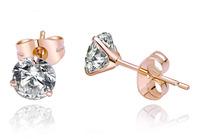 rose stud earring sona fashion rose gold