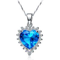 925 pure silver necklace pendant female silver jewelry