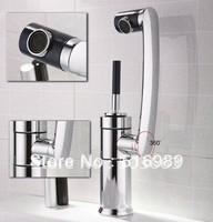 360 degree Swivel Kitchen Sink Bathroom Basin Mixer Brass Tap Chrome Faucet NB-1285