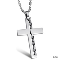 Fashion accessories personality male cross titanium necklace