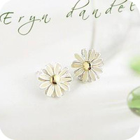 (Min order is $10) E2061 queer accessories hot-selling daisied small chrysanthemum stud earring