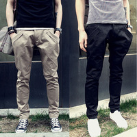 Spring 2013 spring male trousers trend slim trousers harem pants casual pants male men's clothing