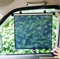Free Shipping Auto Retractable Car Curtain Side Window Sun Shade Windshield Sunshade Shield Visor Block