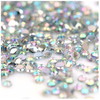 Freeshipping - 10000pcs 1.5mm Iridescent Crystal AB Rhinestones Nail Art Decorations