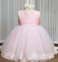 50% OFF!!2013 new girl's princess wedding dress female Children's one-piece dress baby girl new year party ball flower dress