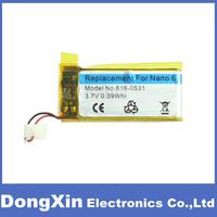 50pcs/lot For iPod Nano6 battery 3.7V Battery Replacement for iPod Nano 6 6th  original Battery Free DHL