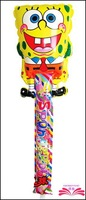 Free Shipping :78x25cm Spongebob cheering stick,cartoon head balloon clappers , inflatable balloon stick