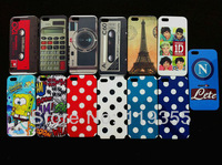 20 pcs NewDots and patterns Style Hard Back Cover Case For Apple Iphone 5 5G With Free Shipping -5G2010