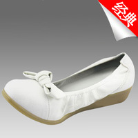White nurse shoes first layer of cowhide wedges cow muscle outsole nursing nurse shoes white shoes work shoes