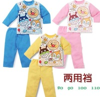 2013 Hot selling 4set lot Aumtumn Spring Cotton Children suits Baby boys Girls Clothes Kids Anpanman Sets long Sleeves+pants