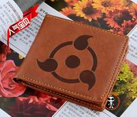 Japanese Anime NARUTO Sharingan BROWN purse leather standard wallet wholesale gift