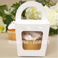 Free shipping Simple Cupcake box With Handle