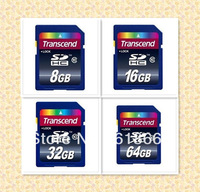 Retail Wholesale Full Capacity Transcend SDHC Class 10 C10 SD Memory Card 8GB,16GB,32GB,64GB Free shipping