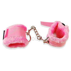 Free shipping Adult novelty toys flirting supplies tools non metal plush handcuffs sm66154(China (Mainland))