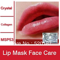 10pcs Lip Mask Crystal Collagen Lip Care Pads Moisture essence anti ageing wrinkle patch pad gel -- MSP53 Wholesale & Retail