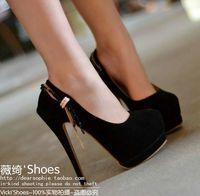 Velvet ultra high heels single shoes rhinestone chain women's stiletto shoes shallow mouth platform gladiator