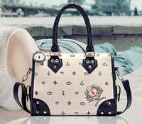 Absolutely Fashion Messenger bags 2013 Hot Spiraea rivets Europe and United States Navy Wind shoulder mobile diagonal female bag