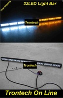 4x8 LED car emergency warning light bar/strobe flash grill light  with 7 functions ON/OFF controller
