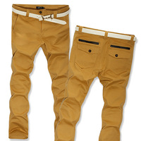 freeshipping  slim pants skinny straight  trousers men casual pants